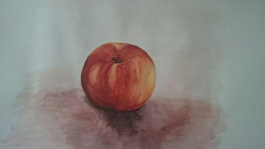 Первый рисунок акварелью,с натуры. рисунок картина гуашь тренировка