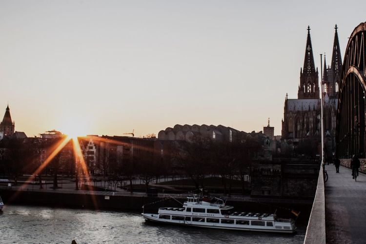Cologne Cathedral - Philharmonic - Hohenzollern Bridge - topped of by Sunset. Sunset Sunset_collection Sunbeam Sunsets Sunsetlover Bridge Philharmonie Architectural Detail Cologne Cathedral Cologne EyeEm Nature Lover Eye4photography  EyeEm Gallery EyeEm Best Shots Check This Out Open Your Eyes For Mothernature Beautiful World City Beautiful Day Bridge View