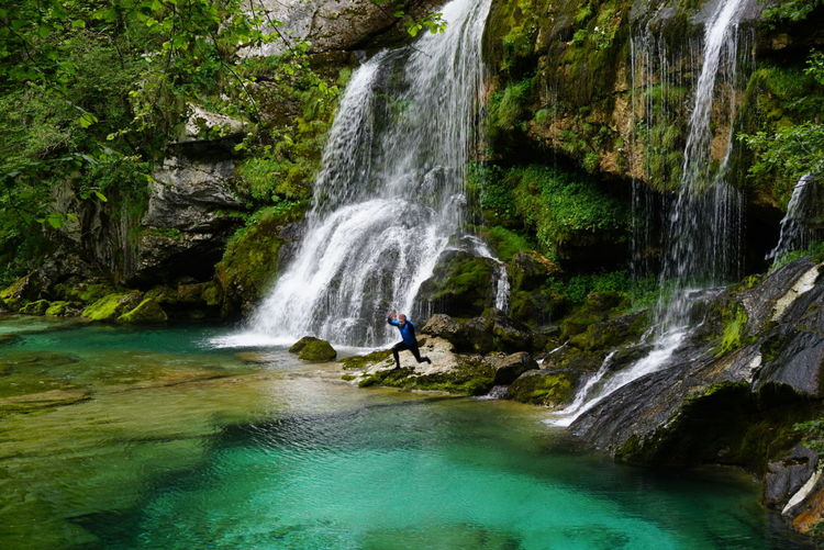 Slovenia Soca Holiday Waterfall Jump Diving First Eyeem Photo EyeEmNewHere Cliff Jumping Water Landscape Outdoors Travel