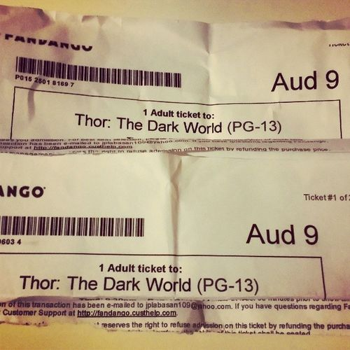 Go watch it ! 👍👍 and make sure to stay after credits 😆😆 Thordarkworld Worthit Fandango Fun marvel goodjob