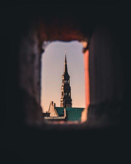 Framed church