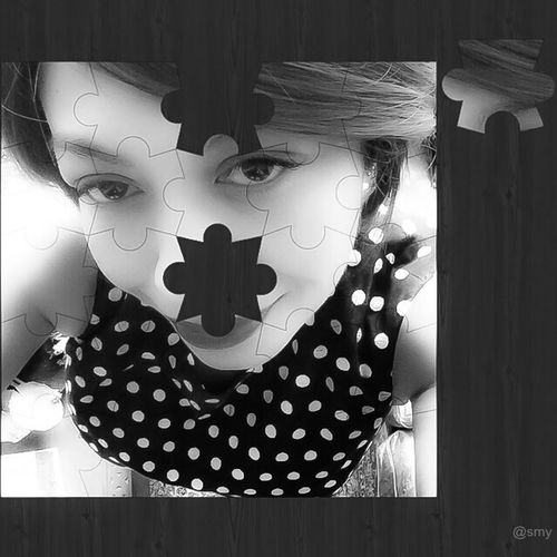 Where is that missing piece? Shootermag Blackandwhite Streamzoofamily Black And White Sleepless•In•KL