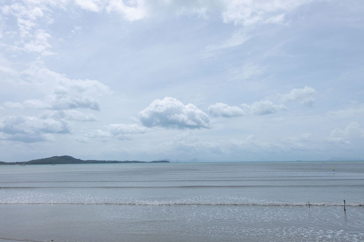 Marine tourism in Southeast Asia Cloud - Sky Sky Beauty In Nature Scenics - Nature Tranquility Water Tranquil Scene Sea Land Beach Day Non-urban Scene Idyllic Nature No People Horizon Outdoors Remote Horizon Over Water Salt Flat