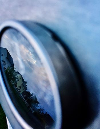 Suburban grilling reflection.., Reflection Glass - Material Transparent Close-up Selective Focus Cloudscape Scenics Cloud - Sky Optical Instrument Focus On Foreground Day Temperaturegauge Grilling Out Macro Photography Macro Focus Object Maximum Closeness light and reflection