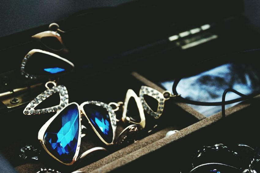 Jewelry Indoors  No People Fashion Close-up Day Canon1100d High Angle View Beautiful Morning Details Beauty In Detail Spring Springtime Focus On Foreground Darkness Metal EyeEm Diversity City Blue Crystal View Dark Blue Crystal Kyiv,Ukraine Live For The Story