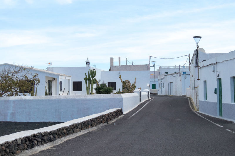 Typical white painted buildings on Lanzarote island Canary Islands Lanzarote Lanzarote Island Architecture Built Structure Residential District Street Scene