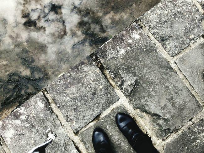灰色地帶 High Angle View Shoe Low Section Day Outdoors Human Leg One Person