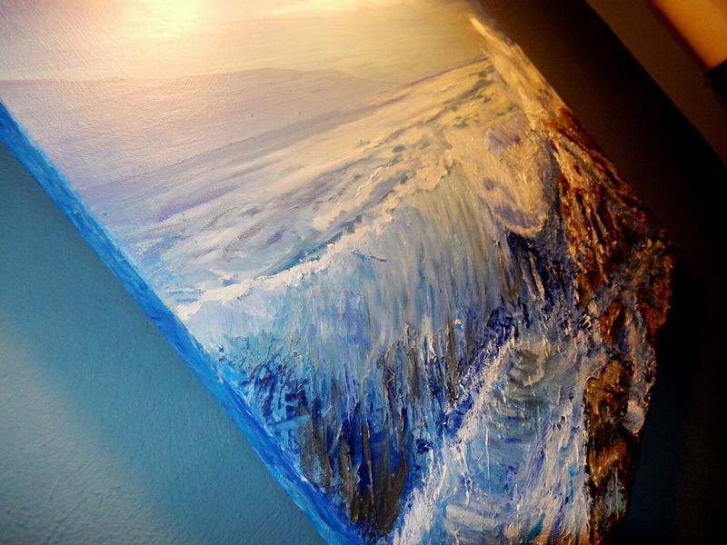 All My Own Work No People Nature Sea Water Beauty In Nature Wave Scenics Day Outdoors Wave Oil Painting