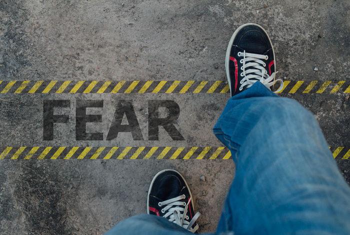 walk to forward for better life, don't fear Cross Fear Fight Foot Forward Go Intrepid Life Motivation Steps Walk Better Confront Dauntless Floor Inspiration Move Onward