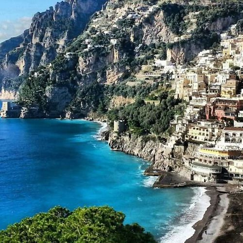 Water Sea Scenics Blue Travel Destinations Beauty In Nature Outdoors Tree Mountain Architecture Rock - Object Landscape Nature Building Exterior Day Built Structure Sky Eye Candy ! Sorrento, Italia Tranquility Blue Sea No People Vacations