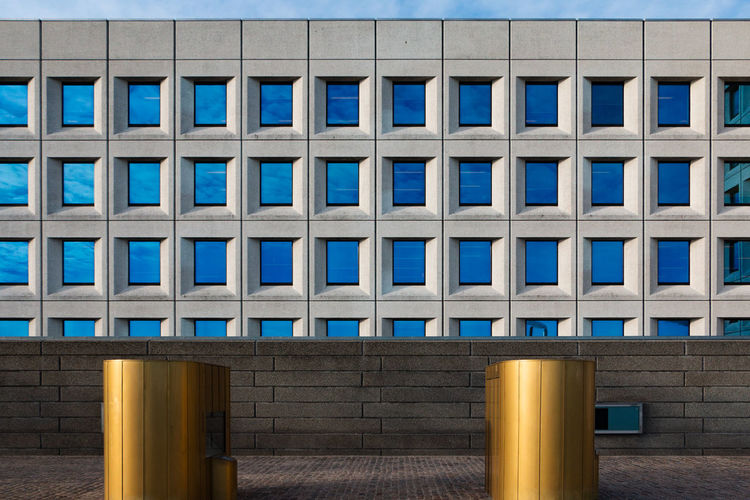 Built Structure Architecture Window Building Exterior Blue Building No People Day Glass - Material Pattern Nature City Modern Office Outdoors Side By Side Wood - Material Sky In A Row Wall - Building Feature Architectural Column