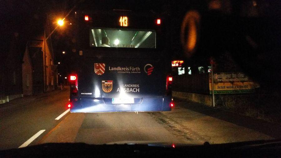 Ein gute Nacht Bussi Ammerndorf Public Transportation Public Transport öpnv 113