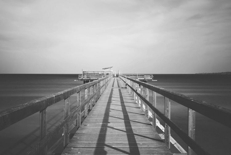 Wooden Pier On Sea