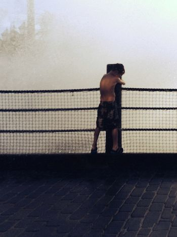 Bridge Over Water Water Standing Holding On Tight Young Boy Anticipation Wetwetwet Wooden Post Brick Road Place Of Heart Sommergefühle EyeEm Selects EyeEmNewHere Breathing Space Kids Of EyeEm Connected By Travel Press For Progress The Still Life Photographer - 2018 EyeEm Awards It's About The Journey