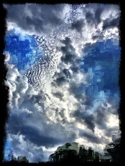 Cloud - Sky Sky Cloudporn Mattroeartist Mattroe September 2016 Digital Art IPhoneography Contemporary Art