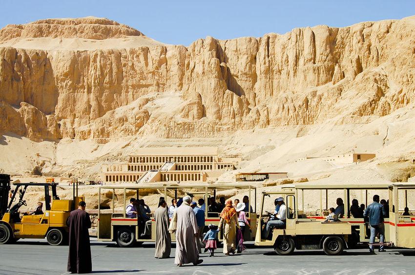 Hatshepsut Temple - Luxor - Egypt Egypt Hatshepsut Luxor Cliff People Ruin Temple Valley Of The Kings