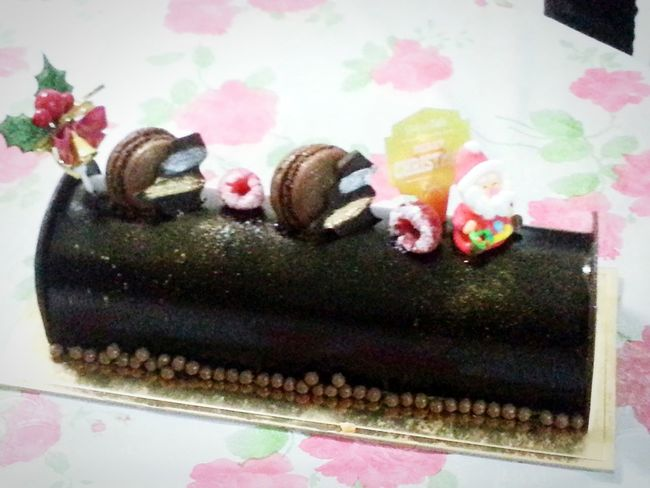 Merry Xmas! Chocolate Log Cake I Can Taste It Enjoying Life