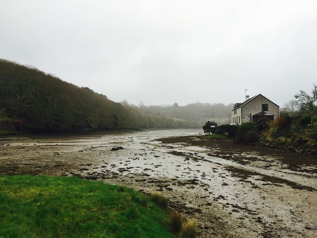 River Fal on a dreary morning run. Cornwall England United Kingdom River Rural Countryside Explore Morning Brisk Tidal Estuary