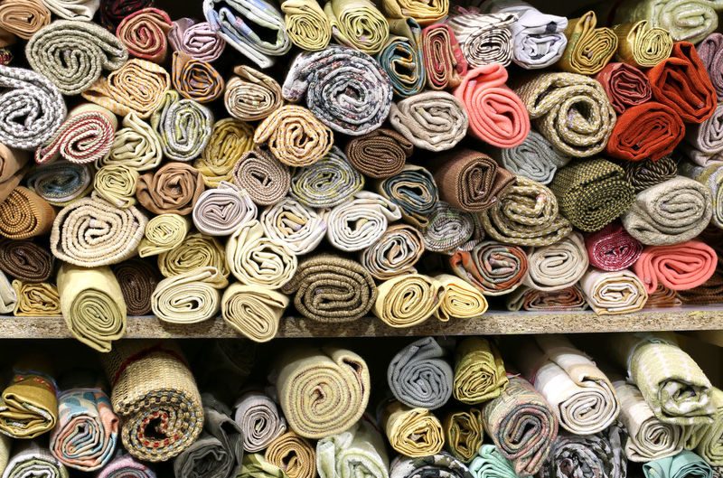 Full frame shot of carpet for sale at market