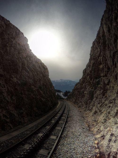 Idyllic No Clouds Rock Rock Formation Schafberg Schafbergbahn Schafbergspitze Sky Sun Train Transportation