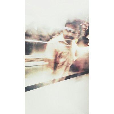 Delhi Metro Reflection Moto Snapseed Photography