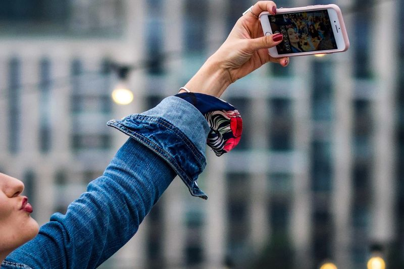 Selfie pout Summertime London Selfies Selfie ♥ Kiss Pout Technology Human Hand Photography Themes Hand Human Body Part Photographing Wireless Technology Selfie
