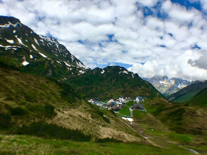 Spring Tirol  Sankt Anton Am Arlberg Cloud - Sky Sky Mountain Beauty In Nature Scenics - Nature Mountain Range Architecture Tranquil Scene Nature Environment Tranquility Landscape Day Built Structure Plant Green Color