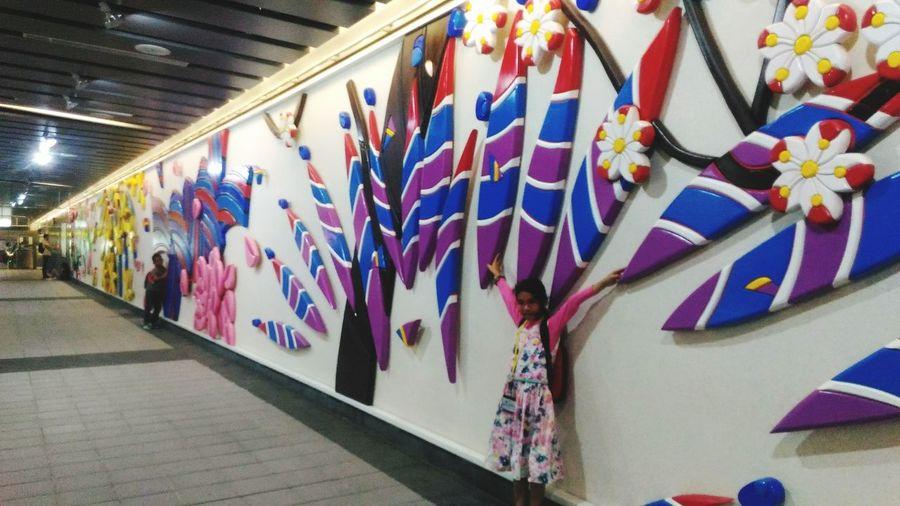 GirlAnd Ornamentsin Taipei,Taiwan Taipei Metro Multi Colored Indoors