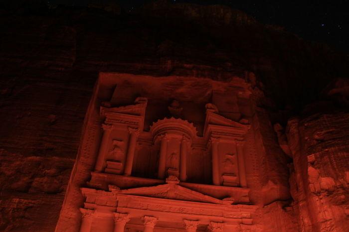Jordan Petra By Night Petra, Jordan Red City UNESCO World Heritage Site