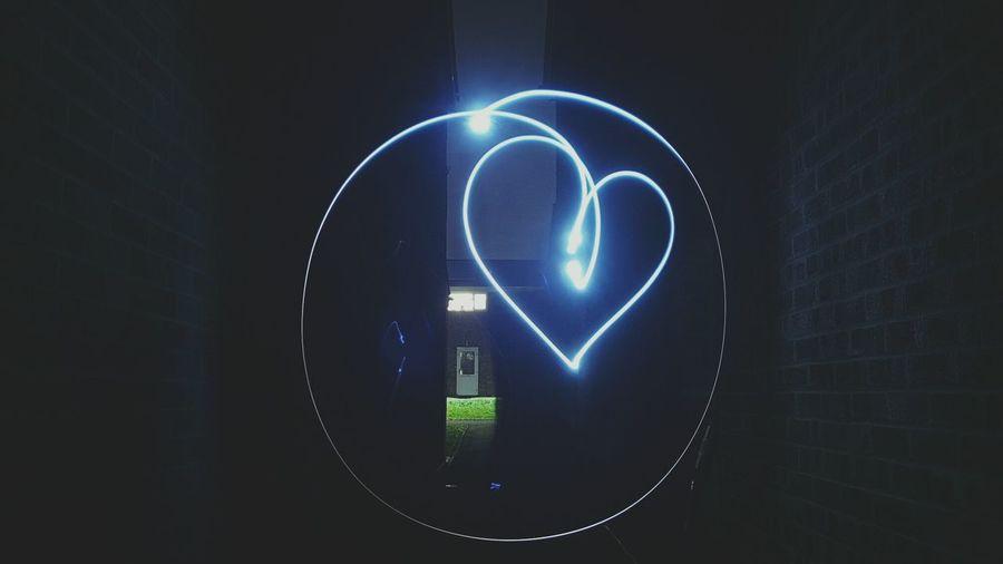 Close-up of illuminated light