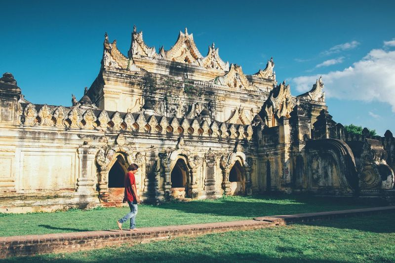 Bagan Castle Traveling Street Photography Architecture History Architecture Myanmarphotos Pagoda Myanmar Pagoda Building Exterior Architecture Built Structure History The Past Sky Travel Destinations Religion Real People Building Travel Place Of Worship