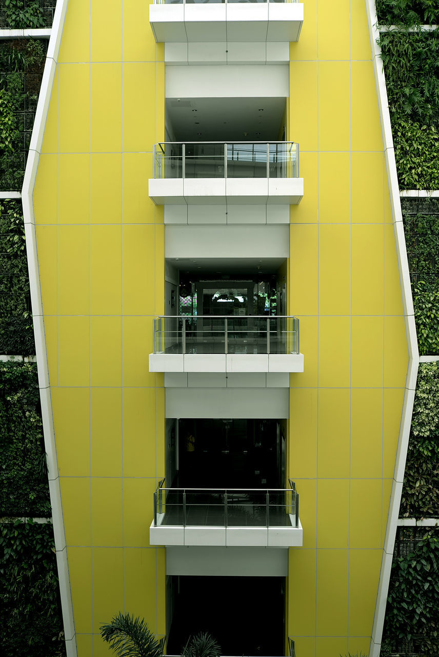yellow, day, architecture, outdoors, no people, modern, built structure, technology, building exterior