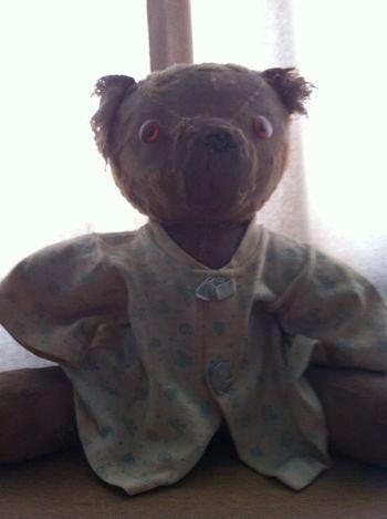 Close-up Portrait Childhood Toy Teddy Bear