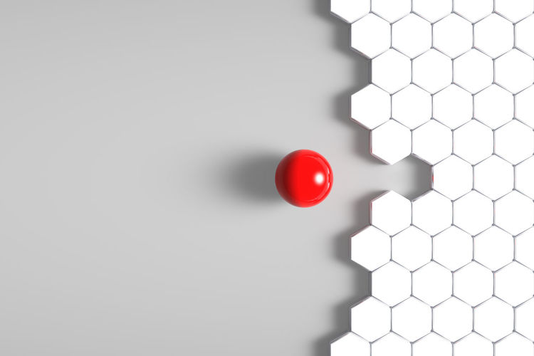 Grid Job Seekers Ball Ceiling Close-up Copy Space Design Different Fit In Focus On Foreground Hexagon Honey Honeycumb Illuminated Indoors  Job Lighting Equipment Low Angle View Match Member No People Pattern Red Searching Shape Sphere Sport Still Life Technology Wall - Building Feature White Background White Color