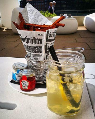 perfect start @nhowberlin Ditisberlin Spreeblick Fries Lemonadewithplus RpTEN HappyRPtending Sonnendeck TeamPINK Nhowhotel Nhowhotelberlin