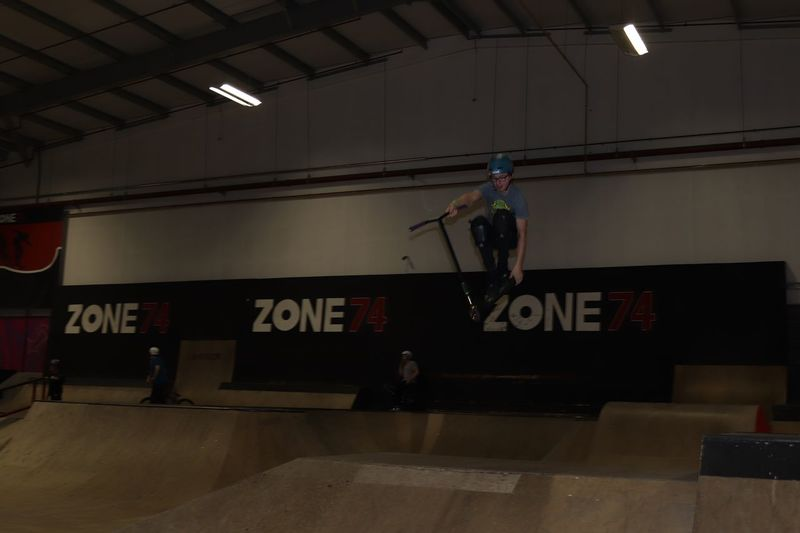 Steeze. Style with ease Skatepark Real People Text Lifestyles Leisure Activity Indoors  Skill  Courage