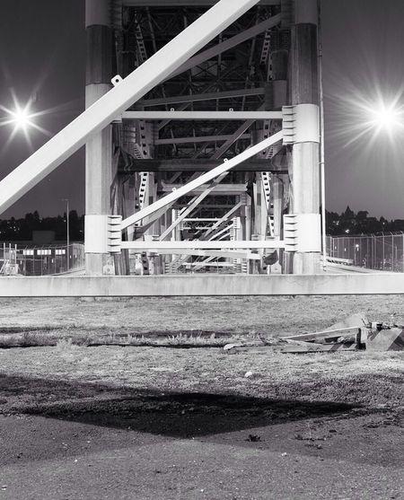 Under the magnolia bridge in Seattle. Urban Geometry Medium Format RB67 Film