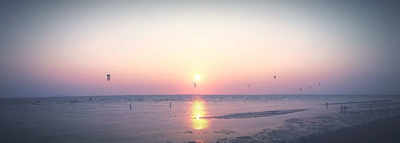 Seascape Sea And Sky Sunset Bangsean Beach Life Is Journey