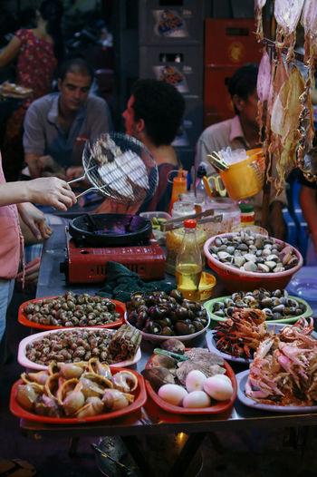 Full frame shot of market stall