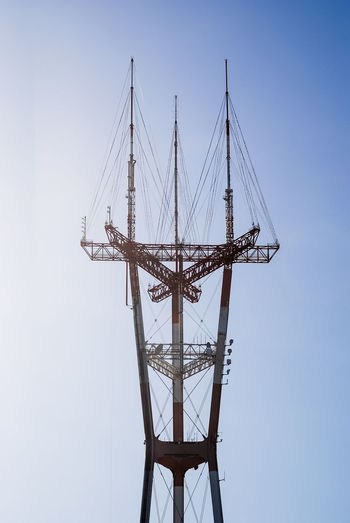 Sutro Tower in San Francisco California Radio Tower TV Tower USA Antenna Clear Sky Day Electricity Pylon Landmark Outdoors Sky Sutro Tower Tower Twin Peaks