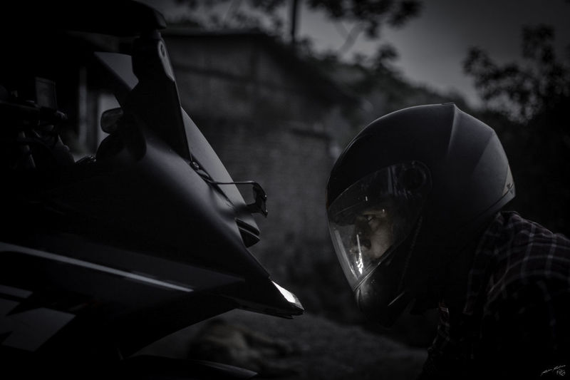 Love is when u embrace her!! Night No People Close-up Bikelife BikeNight BikerBoy Bikesaroundtheworld Love Black & White Blackandwhite Photography Ktmworld Ktmrc200 Ktmclub KTMRacing KtmRc