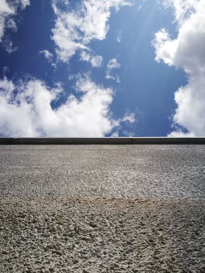 the wall Clouds Sun Blue Sky Wall Grey Rock Granite Building Cloud - Sky Parallel
