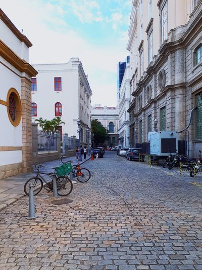 Old side of the town Architecture Building Exterior Built Structure Outdoors Day No People Bicycle City Old Buildings Old Town Old Architecture Old Streets Perspective View Perspective Lines Simple Place