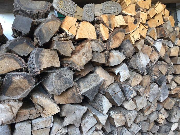 Full Frame Large Group Of Objects Abundance Wood Backgrounds Log Firewood