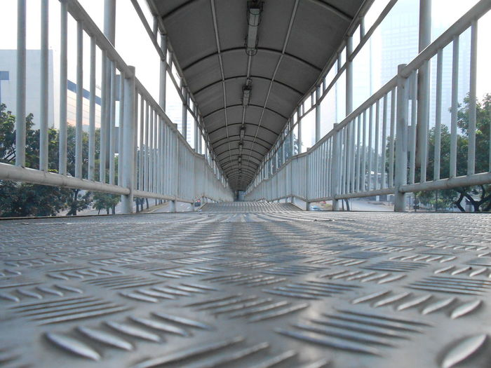 Surface level of empty walkway