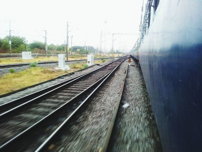 Enjoying every single moment while travelling makes your journey happier...!! Mobile Photography Freshness Train Tracks Junction Indianrailwaysdiaries Let's Go. Together.