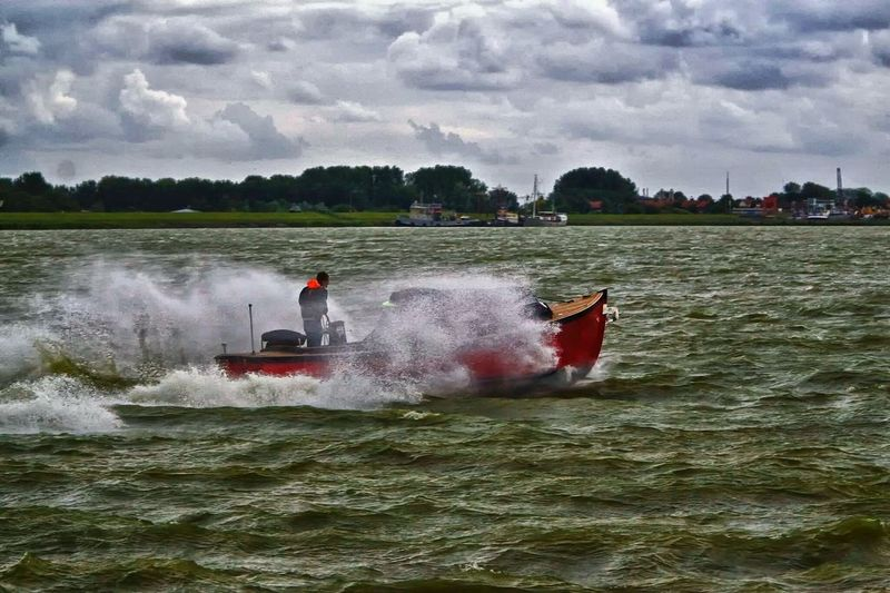 Rescue Squad Speed Boat Water Taking Photos