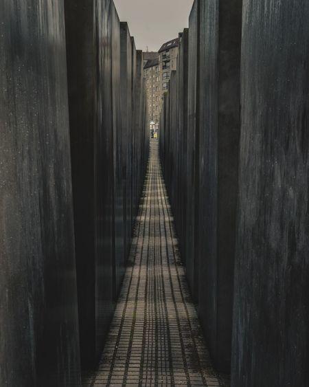 Narrow footpath at holocaust memorial