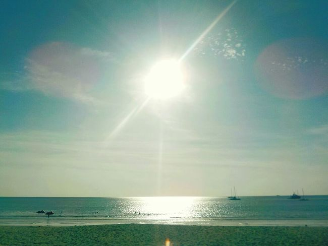 Sea Horizon Over Water Sunlight Sun Tranquility Sky Scenics Nature Sunbeam Water Beauty In Nature Reflection Outdoors Idyllic Tranquil Scene Day Clear Sky Beach No People Refraction Sun Thailand Love Phuket,Thailand Layanbeach Summer