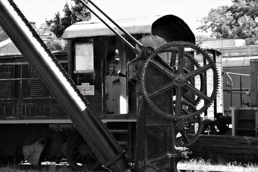 Black & White Normandie Normandie, France Old Train Station Black And White No People Old Locomotive Old Train Outdoors